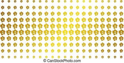 ameba, złoty, halftone, skutek