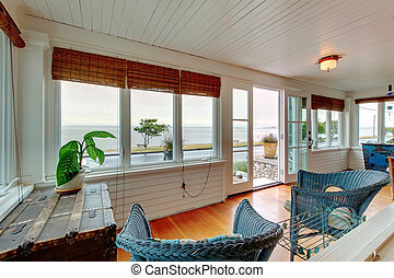 Ameican Cozy beach entrance and living room cottage -...