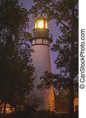 Amelia Island Lighthouse. Fernandina Beach, Florida, USA.