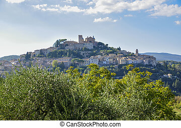 Amelia, Umbria, Italy. Medieval village on the hill