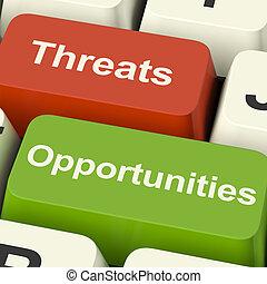 amenazas, empresa / negocio, llaves, actuación,...
