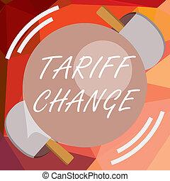 amendement, change., marchandises, business, photo, projection, impôts, écriture, note, showcasing, exportation, services, importation, tarif