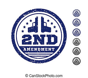 amendement, constitution, seconde, ours, timbre, nous, arms., seal., illustration, autorisation