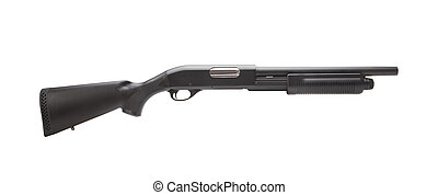 amendement, fusil chasse, symbole, seconde, fond, blanc