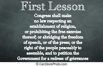 amendement, premier