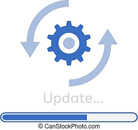 amendement, programme logiciel, mise jour, icône