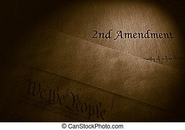 amendement, seconde, concept