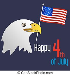 američanka samostatný příjem den, oslava, s, orel, a, prapor, eps10