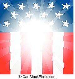 američanka vlaječka, grafické pozadí