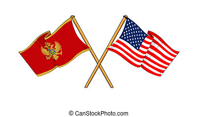 America and Montenegro alliance and friendship -...