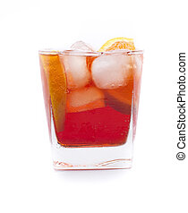 America campari cocktail - a cocktail called Americano, with...