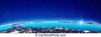 America city lights. Elements of this image furnished by ...