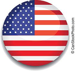 america flag button