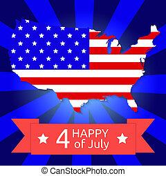 America flag on the American territory