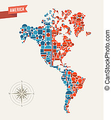 America geometric figures map