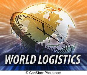 America logistics management concept