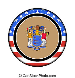 america new jersey button