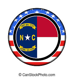 america north carolina button