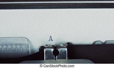 AMERICA - Typed on a old vintage typewriter.
