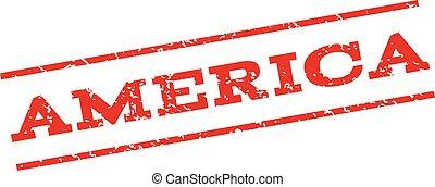 America Watermark Stamp