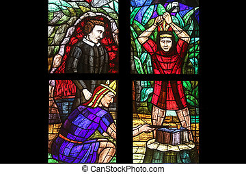 America Window, Stained glass in Votiv Kirche (The Votive...