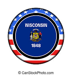 america wisconsin button
