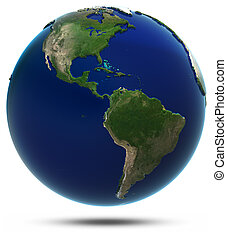 America world map. Elements of this image furnished by NASA