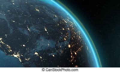 America zone with aurora