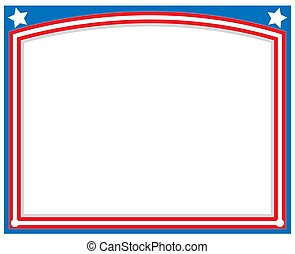 American abstract flag symbolic Patriotic frame