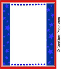 American abstract stylized flag frame border