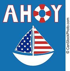 American Ahoy Sailboat