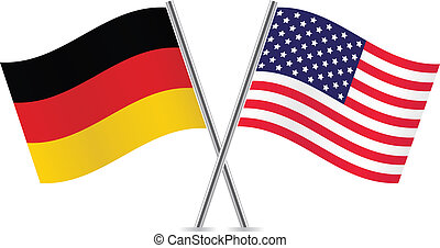 American and German flags.