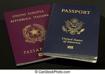 American and Italian Passports
