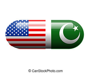 American and Pakistani pill