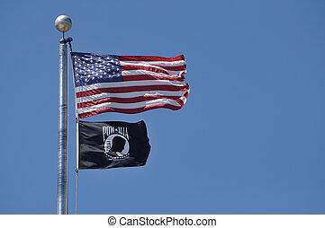American and POW-MIA Flag