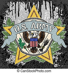 American army symbol - The vector image of color American...