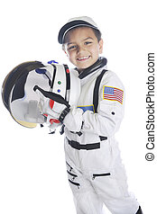 American Astronaut To Be - A happy young elementary...