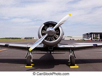 American AT-6 Texan plane - AT-6 Texan, known as the Harvard...