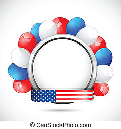 American Badge with Ballon