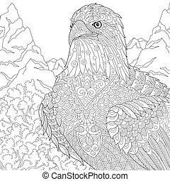 American bald eagle bird - Coloring page of American bald...