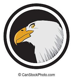 American bald eagle label