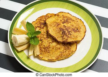 American Banana pancakes