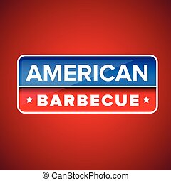 American Barbecue sign vector