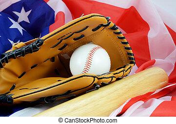 American Baseball Pastime - A still-life of a mitt and ball ...