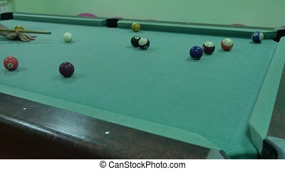 American billiards pool 8 on a table beginning of indoors the game sport lifestyle