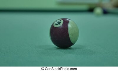 American billiards pool 8 on table indoors beginning of the game sport lifestyle