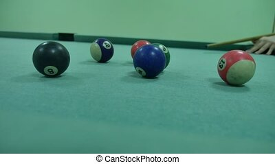 American billiards pool 8 on indoors a table lifestyle beginning of the game sport