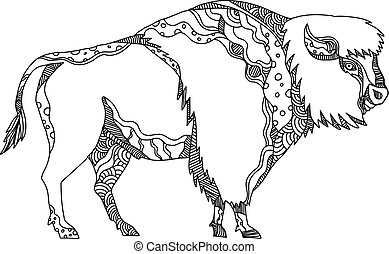 american-bison-side-doodle