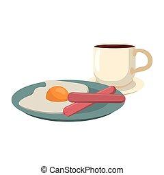 American breakfast food