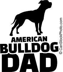 American Bulldog dad
